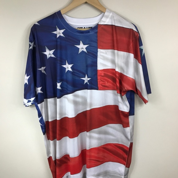 Get A Life Other - GET A LIFE | Patriotic American Flag Tee